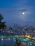 Golden horn. With moon at istanbul turkey Royalty Free Stock Photos