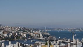 Golden Horn Bay. Istanbul stock video footage