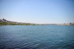 The Golden Horn Bay. View of Golden Horn Bay in Istanbul stock photo