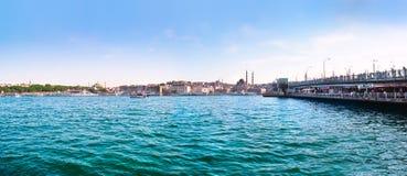 Golden Horn with Bosphorus and Galata bridge in Istanbul, Turkey Stock Photos