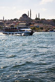 Golden Horn channel in Istanbul Stock Photos