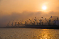 Golden Horn harbor, Vladivostok, Russia Royalty Free Stock Photos