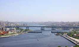 Golden Horn inlet in Istanbul, Turkey Royalty Free Stock Photography