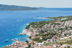 Golden horn on the island of Brac in Croatia royalty free stock images