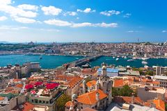 Golden Horn in Istanbul royalty free stock photos