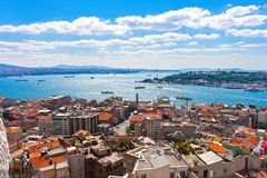 Golden Horn in Istanbul royalty free stock images