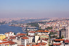 The Golden Horn, Istanbul and Ataturk Bridge Stock Photo