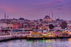 The Golden Horn in Istanbul at dawn Stock Image