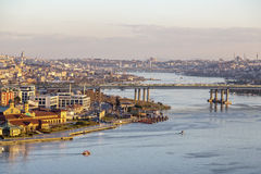 The Golden Horn, Istanbul stock image