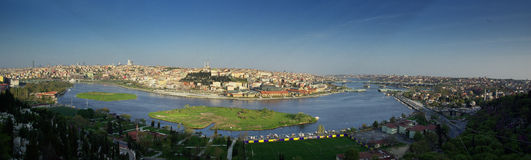 Golden Horn of Istanbul Royalty Free Stock Images