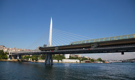 Golden Horn Metro Bridge Stock Photos