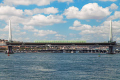 Golden Horn Metro Bridge Stock Images