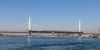 Golden Horn Metro Bridge Stock Image