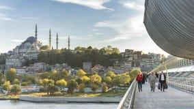 Golden Horn Metro Bridge, Istanbul, Turkey Royalty Free Stock Images
