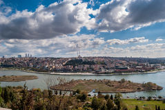 Golden Horn Panorama from Pierre Loti Hill Stock Image