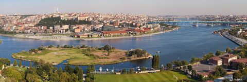 Golden Horn panorama Royalty Free Stock Photo