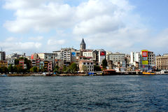 Golden Horn. Pera, as seen from the Golden Horn, 2008, Istanbul, Turkey Stock Photos