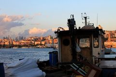 Golden Horn. Sea view from Golden Horn royalty free stock images