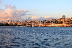 Golden Horn. Sea view from Golden Horn royalty free stock image