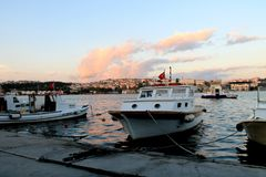 Golden Horn. Sea view from Golden Horn royalty free stock photos