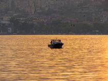 Golden Horn at sunset. Stock Photos