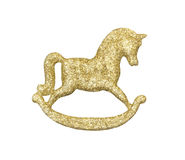 Golden horse decoration Royalty Free Stock Images