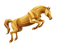 Golden horse jumping Royalty Free Stock Photography