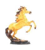Golden Horse Statue Isolate Stock Images