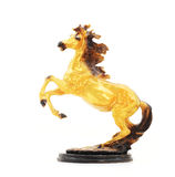 Golden Horse Statue Isolate Royalty Free Stock Photo