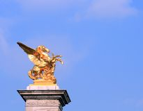Golden Horse Statue, Paris Stock Photos