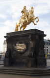 Golden Horseman. Dresden. Germany. Royalty Free Stock Images