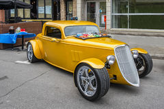 Golden Hot Rod Royalty Free Stock Photography