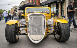 Golden Hot Rod front Royalty Free Stock Images