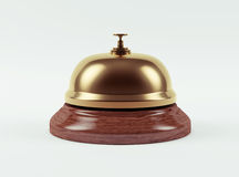 Golden Hotel Bell Royalty Free Stock Image