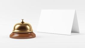 Golden Hotel Bell Stock Photos