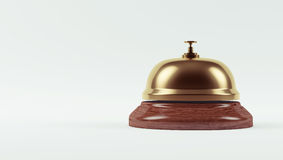 Golden Hotel Bell Royalty Free Stock Photo