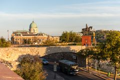 Golden hour in Budapest stock photography