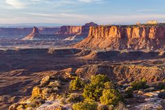 Golden Hour from Canyonlands Grand Viewpoint stock photos