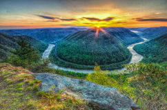 The Golden Hour at Grandview. stock images