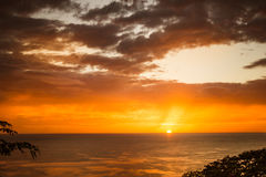 Sunset in Nicaragua Stock Images