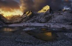 Golden hour, Norway Stock Images