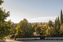 Golden Hour over Madrid, Spain Royalty Free Stock Photos