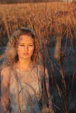 Golden Hour Portrait Stock Photo