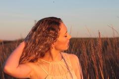 Golden Hour Portrait Stock Images