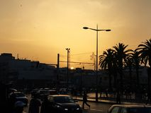 Golden hour in Rabat City, Morocco Royalty Free Stock Photos