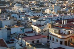 Rooftop view seen from the Metropol Parasol in Seville stock image
