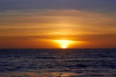 A beautiful sunset in Malibu. The golden hour simply is the greatest time of the day Royalty Free Stock Photos