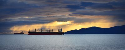 Golden Hour at Stanley Park, Vancouver, Canada stock photography