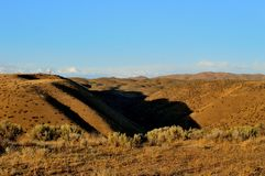 High Desert Hills and Shadows Landscape Royalty Free Stock Images