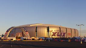 Golden Hour of Super Bowl in Phoenix, AZ Royalty Free Stock Photography